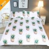 Pineapple Bedding Set Sweet Printed Fruit Bedsheet Soft Microfiber Duvet Cover Set 3 Pc...