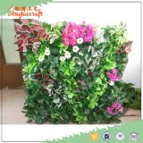 New green Chinese artificial vertical green wall ,green down on the wall for garden dec...