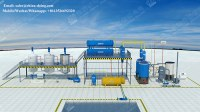 85% high oil yield waste engine oil to diesel distillation plant