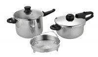 Hotsale ASB2204+6L Model Stainless Steel Pressure Cooker Set Nonstick