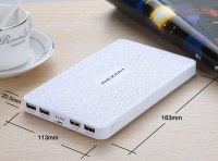 Mosaic 20000mAh 4 USB Mobile Polymer Power Bank for Samsung Galaxy Note 3