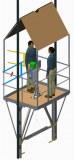 Adjustable Powered Elevator/Lift False Car Kit ( Guided Working Platform For Elevator...)