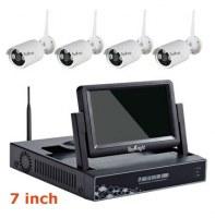 4CH 7inch WIFI Real Plug&Play LCD NVR Kit