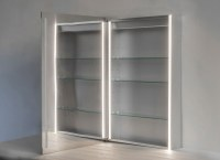 Surface Mount Medicine Cabinet With Mirror And Lights