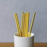 Gold Metallic Drinking Paper Straws