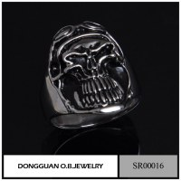SR0016 Men Gay Stainless Steel The Expendables Skull Ring
