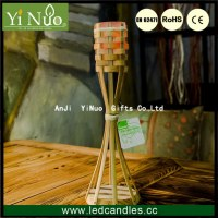 Bamboo Table Top Candle Torch