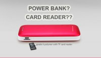 4000mAh Polymer Power Bank Charger Support TF Card Read