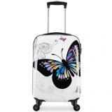 翻译 Maleta cabina 55cm equipaje de mano mujer niño avión 4 ruedas Luz mariposa 40 L