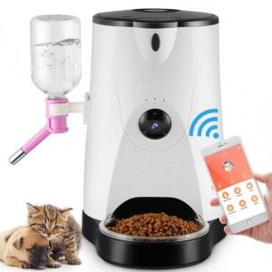 Alimentador inteligente de alimentos y agua para mascotas