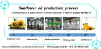 Complete set sunflower oil making machine, sunflower oil processing machine for sale