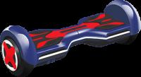 IU Smart U1 250W 8 Inch Wheels All Terrain Red and Blue Hoverboard