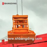 Remote control hydraulic clamshell grab bucket for bulk cargo