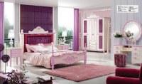 Princesa rosada dormitorio adolescente de madera Conjunto de muebles