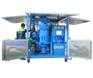 Máquina de filtración de aceite de transformador de alto vacío de doble etapa 9000 litros por hora