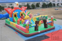Hot sale Patrick star bouncy inflatable castle jumping castle inflatable bouncer, infla...