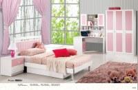 4 piezas Blanco / Rosa Princesa Moderna / Girl muebles de dormitorio para niños