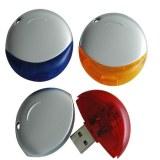 Lecteur flash USB de forme ronde de cercle avec la lanière de collet
