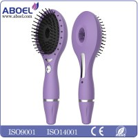 Eletric Massage Vibrating Ionic Custom Comb Brush Professional Hair Brush