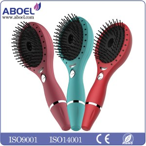 Rechargeable LED Light Hair Brush Scalp Massaging for Health & Growth