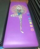 Suministro de diseño personalizado logo color PU goma estera de yoga