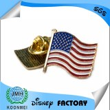 Amearican flag lapel pin badge