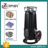 Widely used submersible cutting sewage water pump with cast iron impeller