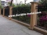 Valla de hierro ornamental soldada