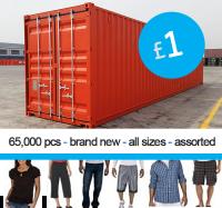 Oferta contenedor: ropa para hombre y mujer