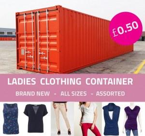 Oferta de contenedor de ropa de mujer