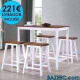 Table et tabouret de bar 5 pcs Bois LIVRAISON GRATUITE