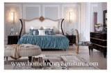 La cama clásica del dormitorio de los muebles de los conjuntos de dormitorio de Kingbed...