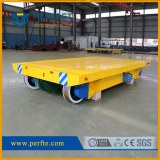 Track handling electric flat cart with hydraulic system for lifting