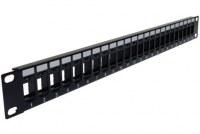 Keystone en blanco Panel de conexión de alta densidad de 24 puertos