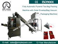 Pyramid Jasmine Assam Tea Bag Packing Machine with Outer Vacuum Envelope