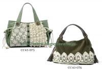 Cordón de la calidad Niza bolsas de asas verdes, bolso de la señora
