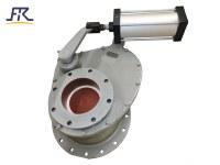 Válvula de puerta de cerámica rotatoria neumática del disco, válvula de puerta de cerámica, válvu...
