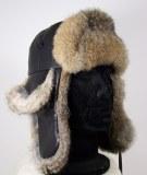 Hat sombrero de piel y cuero de piel de conejo Cordero