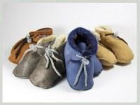 Zapatos de bebé de cuero y de piel Merino Cordero