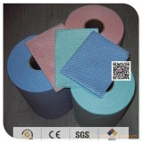 Biodegradable cleaning products segment nonwoven wipes 3050cm50pcs/roll 50%vis and 50%pet