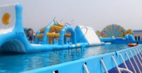 Giant Inflatable water obstacle course for kids and adults
