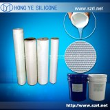 Silicone rubber for coating textilet
