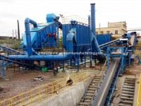 Planta de reciclaje de residuos de hormigón, sistema de gestión de residuos de la construcción
