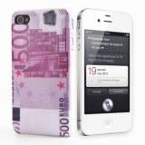 EURO Billet 500 motif Coque rigide pour iPhone 4 et 4S