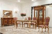 Las sillas de tabla de madera de los sistemas de comedor de los muebles del estilo anti...