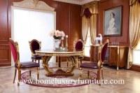 Los muebles clásicos de lujo del comedor de la silla de mesa de comedor fijan el nuevo...