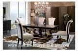La mesa de comedor de los muebles y los muebles de madera Italia del comedor de las sil...