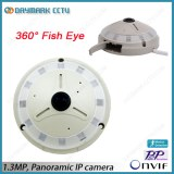 1.3MP HD Fish Eye IP Camera 360 degree Panoramic View 128G SD Card