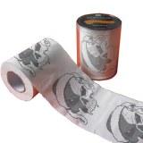 De papel impreso de papel higiénico