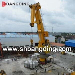 BANGDING knuckle boom marine deck crane for ship